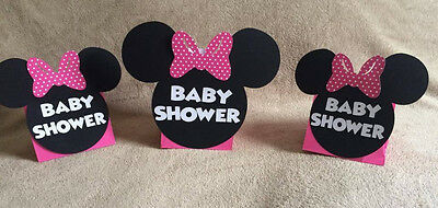 Minnie Mouse Baby Shower Centerpieces (Minnie Mouse Balloon Centerpieces. Baby Shower. Can change colors if you)