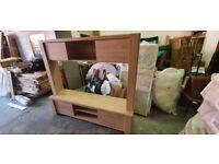 Fully Assembled Portland Wall TV Unit - Oak
