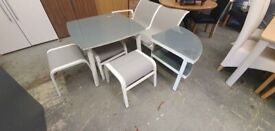 Fully Assembled Toulon 6 Seater Metal Corner Sofa Set