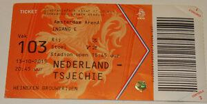 Ticket for collectors EURO q * Holland - Czech Rep. 2015 Amsterdam Netherlands - Internet, Polska - Ticket for collectors EURO q * Holland - Czech Rep. 2015 Amsterdam Netherlands - Internet, Polska