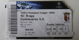 Ticket for collectors CL SC Braga Galatasaray Istanbul 2012 Portugal Turkey - Internet, Polska - Ticket for collectors CL SC Braga Galatasaray Istanbul 2012 Portugal Turkey - Internet, Polska
