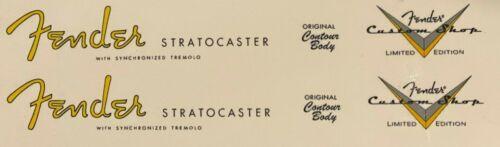 Fender Stratocaster spaghetti & custom shop headstock waterslide decal