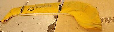 "RINKER YELLOW CANVAS BIMINI BOOT WITH WHITE ZIPPER 67 3/4"" X 7 3/4"" MARINE BOAT"