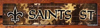 NFL Licensed New Orleans Saints Property Sign Plastic Decor Football Game - New Orleans Saints Decor