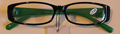 Reading NYS Glasses 3.00 Strength Gorgeous White and Black Design Classy (Nys Glasses)