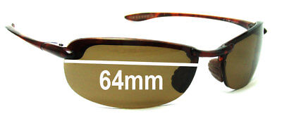 SFx Replacement Sunglass Lenses fits Maui Jim Sport Makaha MJ405 - 64mm (Maui Jim Australia)