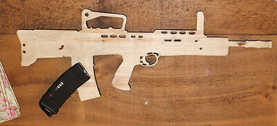 Contact Left Full Size Plain Wooden Training Drill Rifle L85A2 SA80 (SAA Lessons