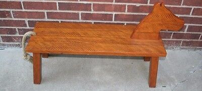 Nursery Bench (Pottery Barn Kids PBK Nursery Baby Wooden Horse Shaped Bench Seat Natural)