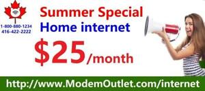 Unlimited 60M Internet $30/month with FREE wired modem, Free shipping.  CALL/ SMS : 1-800-880-1234 to order