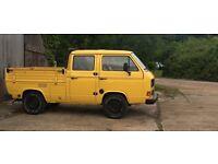 1987 VOLKSWAGEN T25 DOUBLE CREW CAB/DOKA