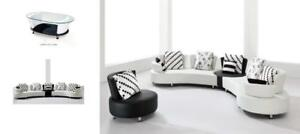 b9ee98a887c4 Lord Selkirk Furniture - Gemini Sectional Only in Black and White Leather  Gel - Please see