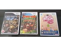 Nintendo Wii games; Donkey Kong , Big Brain Academy , Call of Duty