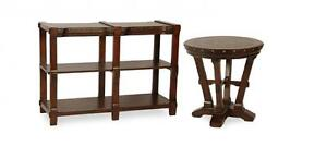 Solid Wood Console and End Table Set