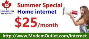 SPECIAL cable Internet plans for Cogeco cable covered area:  60M Unlimited internet for $30/month, FREE modem, no contra