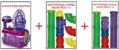 Crittertrail Dazzle Cage & Funnel Kit For Hamsters & Gerbils $80.00 Value