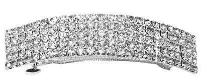 Lot of 6 Crystal Barrettes in silver tone U86900-0004s-6