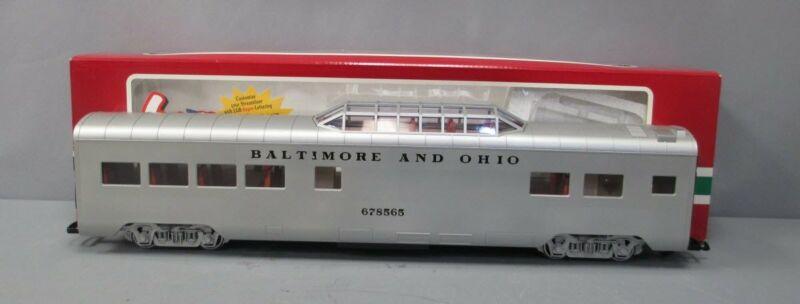 LGB 30580 Baltimore & Ohio Vista Dome Car - Metal Wheels EX/Box