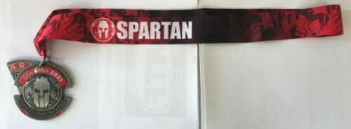 Spartan Race Medal 2021 5K Trifecta Sprint Finisher With Wedge