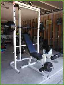 Gymnase maison WeiderPRO355 (banc, poulie, appareils jambes) lbs