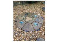 Stone circle paving