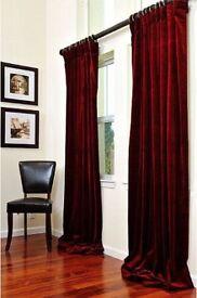 Sundour crushed velvet curtains