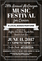 28th Annual McGregor Music Festival for Cancer