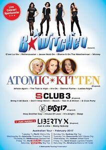 x4 S Club 3, Atomic Kitten, Liberty X & East 17 Tickets Mosman Mosman Area Preview
