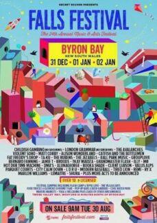 2x 3day Falls festival Byron Bay tickets