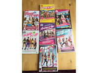 REDUCED - 7 dance aerobic exercise DVDs ministry of sound