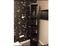 IKEA black lack shelving unit / book case unit