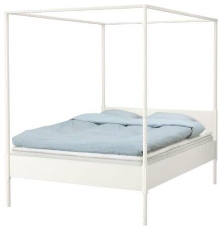 Ikea four poster king size bed frame in bedminster for Ikea frame sizes australia