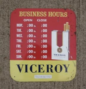 Viceroy Cigarettes Tin Sign