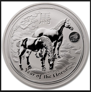 Silver coin : 1 oz Lunar Horse with Lion Privy ( year 2014)