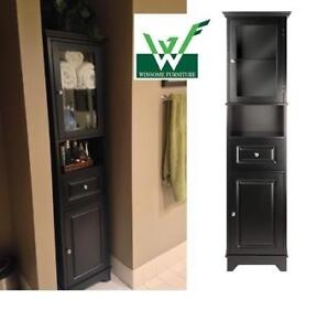 NEW* WINSOME ALPS STORAGE CABINET 20871 225132049 GLASS DOOR DRAWER HOME HOUSE FURNITURE DECOR