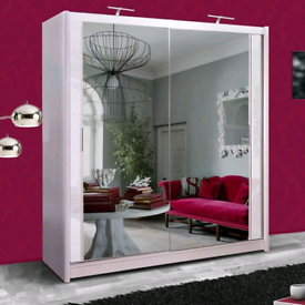 ⭐💕SALE OFFER ON NEW YORK 2 AND 3 DOORS SLIDING WARDROBE WITH FULL MIR
