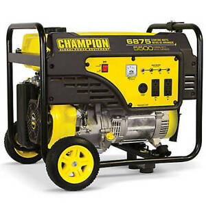 Champion 5500-Watt Portable Generator with Wheel Kit