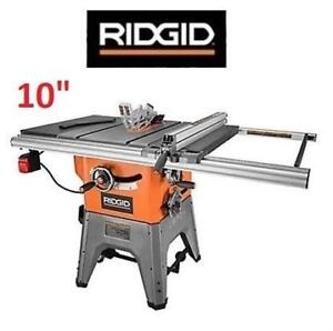 NEW* RIDGID CAST IRON TABLE SAW R4512 205540102 13 AMP PROFESSIONAL POWER  TOOL