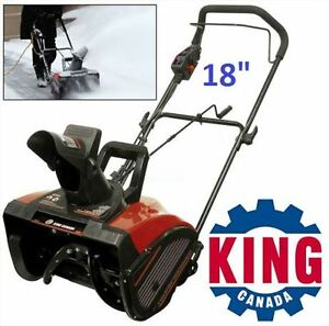 King Canada 18-in. Electric Snow Thrower -New in Box