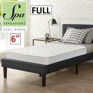 "NEW 6"" FULL SPRING MATTRESS WMC-BLBN-6F 209513499 SPA SENSATIONS TRUNDLE DAY BED BUNK BED"