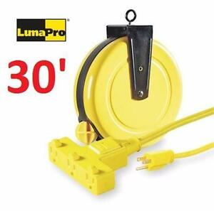 NEW LUMAPRO EXTENSION CORD REEL 30'   LUMAPRO 4XP67 Reel, Cord, 13 A, 14 AWG ELECTRICAL WIRE 96452949