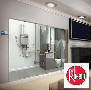 NEW RHEEM INDOOR WATER HEATER 8.4 GPM - High Efficiency Indoor Tankless  75802278