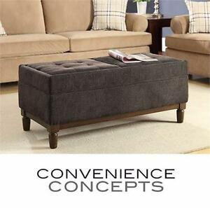 NEW CC SUTTON PLACE STORAGE OTTOMAN CONVENIENCE CONCEPTS - HOME FURNITURE BENCH LIVING ROOM   82525391
