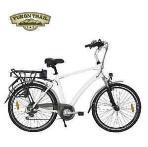 NEW YUKON TRAILS ELECTRIC BIKE HYBRID BIKE - SPORT - WHITE - XPLORER BICYCLE riding cycling 80138642