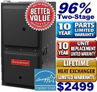 Carrier, Lennox ,Goodman Two Stage High Efficiency from $2499