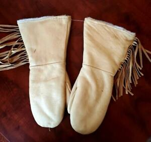 Native American Leather Mittens