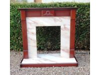 LOVELY NEAT FIREPLACE SURROUND - MUST BE SOLD !