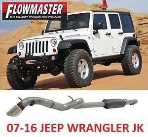 NEW FLOWMASTER CAT-BACK EXHAUST KIT - 124036202 - 2007 2016 JEEP WRANGLER JK 2 OR 4 MODELS Single Rear Exit CatBack S...