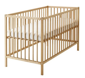 IKEA 3in1 infant crib to toddler bed with mattress