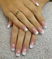 French  manicure acrylic nails