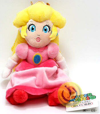 "Authentic BRAND NEW - Sanei  8"" Princess Peach Super Mario Plush Doll SUPER CUTE on Rummage"